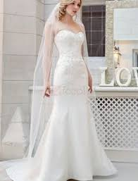 Bandeau Trumpet Wedding Dresses With Appliques
