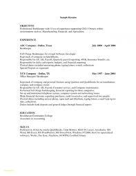 Bookkeeping Resume Sample