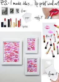 DIY Kiss Wall Art