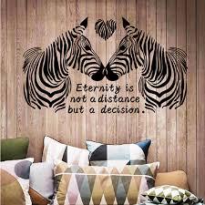 Zebra Living Room Decor Removable Decals Mural Art PVC DIY Home Wall