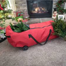 Santas Bags EZ Rolling Artificial Christmas Tree