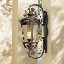 bellagio 16 1 2 high upbridge arm black outdoor wall light