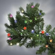 Slim Christmas Tree Prelit Led by The World U0027s Best Prelit Douglas Fir 8 5 U0027 Slim Led Hammacher
