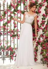 wedding dress crystal embroidery chiffon style 6797