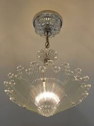 Antique Lamps Ebay Australia by C 30 U0027s Vintage Art Deco Ceiling Light Fixture Chandelier American