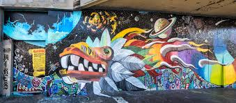 Quetzalcoati Serpent On Mission St In San Francisco