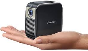 crosstour mini beamer hd dlp taschen projektor mit 3000 mah akku unterstützt heimkino projector für hdmi laptop ios android