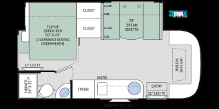 Itasca Class C Rv Floor Plans gemini ruv class c motorhomes floor plans thor motor coach