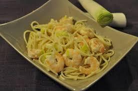 recette pate au creme fraiche recette spaghetti aux crevettes et crème de poireau