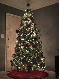Unlit Artificial Christmas Trees Walmart by Holiday Time Pre Lit 7 5 U0027 Kennedy Fir Artificial Christmas Tree