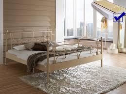 hochwertiges metallbett lattenrost matratze bett
