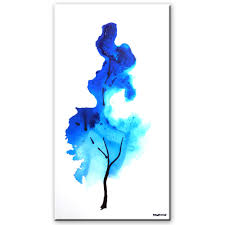 One Minute Abstract Painting Sky Blue Acrylic Of A Tree
