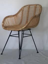 rattanstuhl natur korb stuhl retro sessel lounge loft rattan