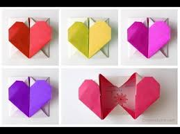 How To Make A Origami Heart Box Easy For Valentines Youtube Template