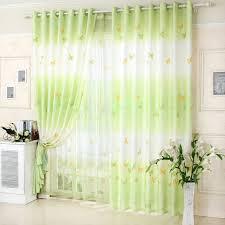schmetterling muster polyester gewebe grün wohnzimmer vorhänge