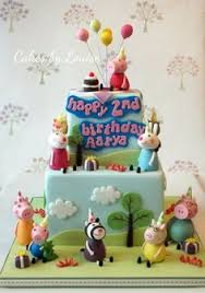 peppa pig cake decorations peppa pig birthday by cakesbylouise cakesdecor