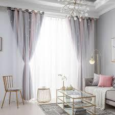 wohnzimmer vorhänge blickdicht gardinen doppelschicht