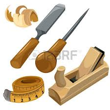 Working Tools Of A Carpenter Vector Set Isolated