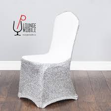 housse de chaise lycra housse de chaise lycra blanc avec brillants argent mariage les