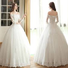 2017 vantage off shoulder long sleeve white lace wedding dresses