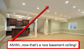 startling how to install a drop ceiling in basement ceilings or