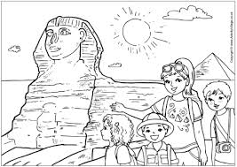 The Sphinx Colouring Page