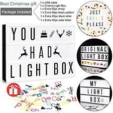 Amazon Cinema Light Box with 96 Letters and Symbols