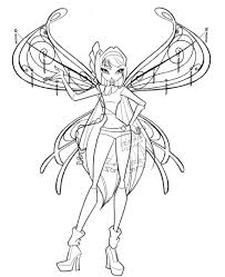 Winx Club Coloring Pages Games Stella Enchantix Free On Art