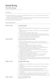 Front Office Manager - Resume Samples & Templates | VisualCV Cash Office Associate Resume Samples Velvet Jobs Assistant Sample Complete Guide 20 Examples Assistant New Fice Skills Inspirational Administrator Narko24com For Secretary Receptionist Rumes Skill List Example Soft Of In 19 To On For Businessmobilentractsco 78 Office Resume Sample Pdf Maizchicagocom Student You Will Never Believe These Bizarre Information