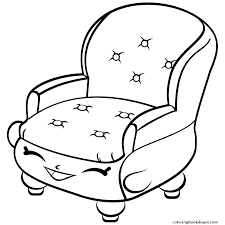 Chair Shopkins Season 4 Coloring Pages
