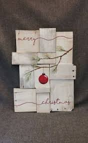 Rustic Christmas Decor Pallet Art Farmhouse One Of A Kind Merry