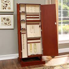 Mirrors : White Cheval Mirror Floor Standing Jewelry Armoire ... Bedroom Awesome Country Style Jewelry Armoire Locking Antique Armoires Ideas All Home And Decor Fniture Black With Key And Lock For Home Boxes Light Oak Jewelry Armoire Ufafokuscom Amazoncom Collage Photo Frame Wooden Wall Powell Mirrored Abolishrmcom Organize Every Piece Of In Cool Target Inspiring Stylish Storage Design Big Lots