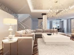 canape angle luxe luxe déco design salon lumineux avec canapé d angle grand
