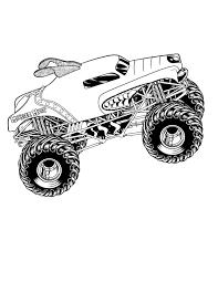 100 Monster Truck Coloring Book Jam Fun Time