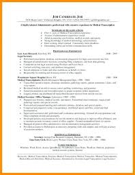 Assistant Manager Resume Sample Lovely Medical Transcription Samples Practice Summary