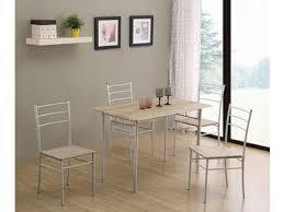 table de cuisine 4 chaises pas cher table 4 chaises daily chene grise blanc