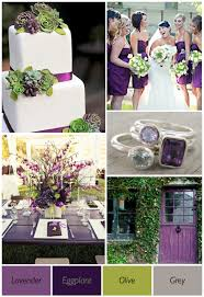 Purple And Green Wedding Theme Ideas