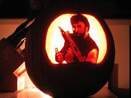 Underfist Halloween Bash Kisscartoon by 100 Halo Pumpkin Carving Patterns Blurgh The Thinkgeek Blog