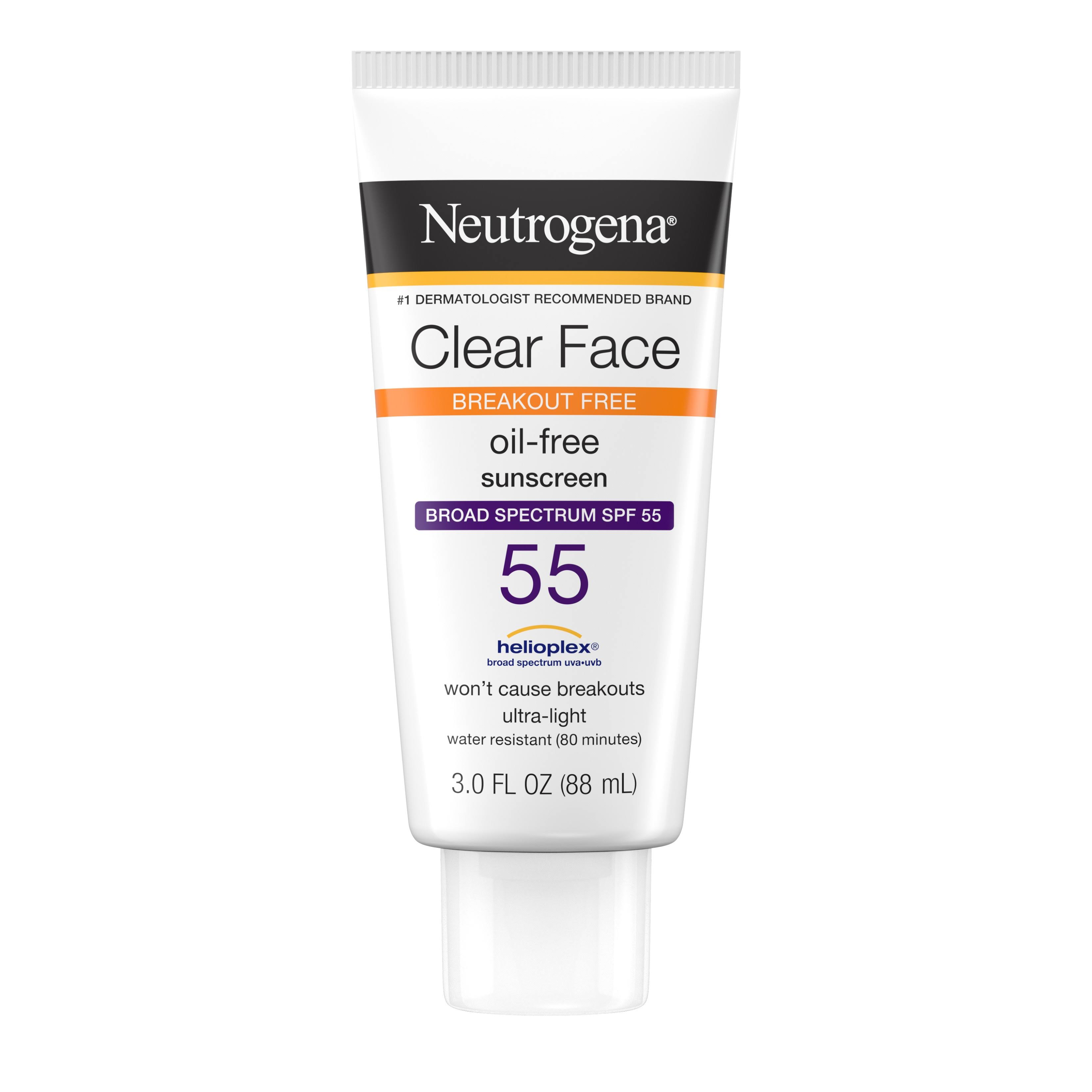 Neutrogena Clear Face Liquid-Lotion - SPF 55, 3.0oz