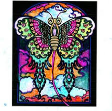 Patricia Ress 18 Division From Chinese Kites Stained Glass Coloring Book