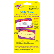 Hard Halloween Trivia Questions And Answers by Children U0027s Bible Trivia Educational Re Challenge Card Game Amazon