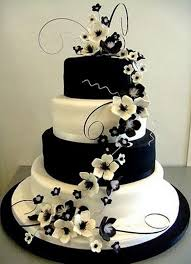 Elegant black and white cake This would have been perfect for our black & white wedding They didn t make cakes that I knew of this beautiful 13 yrs ago