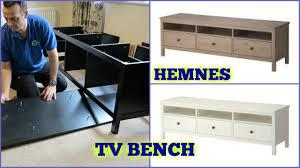 Ikea Hemnes Desk Uk by Ikea Hemnes Tv Bench Assembly Youtube