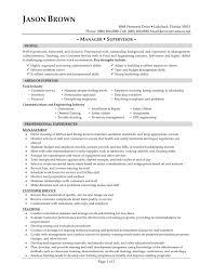 Resume Sample For General Manager Position New Supervisor Restaurant Management