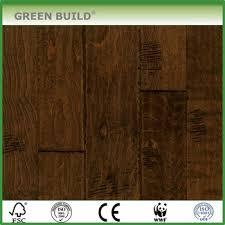 Distressed Birch Engineered Wood Flooring Dark Brown Color