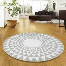 details zu rund teppich matte carpet wohnzimmer boden rutschfest dreieck grau 60 80 100cm
