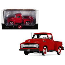 New 1956 Ford F-100 Pickup Truck High Feature Vermillion Red 1/25 ... 1956 Ford F100 Pickup Truck 124 Scale American Classic Diecast World Famous Toys Diecast Trucks F150 F 1953 Car Package Two 143 Scale 2016f250dhs Colctables Inc New 1940 Black 125 Model By First Chevrolet Chevy 2017 Dodge Ram 1500 Mopar Offroad Edition Hobby 1992 454 Ss Off Road Danbury Mint For 1973 Ranger Red White 118