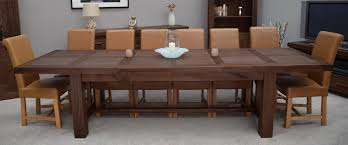 Kendo Solid Walnut Dining Room Furniture Extra Large Extending Table EBay