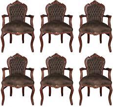 casa padrino barock esszimmer stuhl mit armlehnen braun