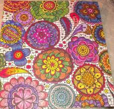 Flower Mandalas Finished Adult Coloring Pages Zenspirations Color Mandala Inspiration Colored
